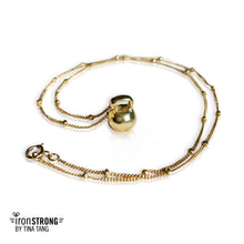 Teeny Weeny Brass Kettlebell Necklace