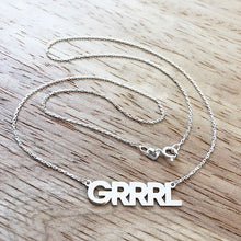 Sterling silver GRRRL power necklace