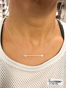Women's Strength Coalition Charity Barbell Necklace