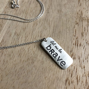 Special Olympics Let Me Win Let Me Be Brave Charity Necklace