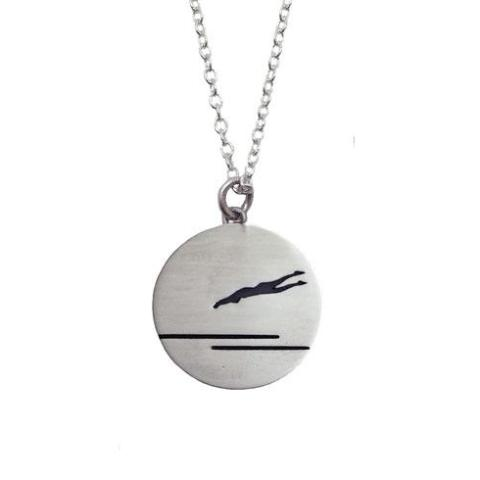 Sterling Silver Swimmer Necklace