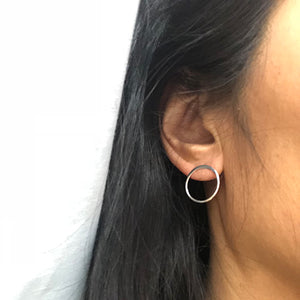 Simplicity Circle Stud Earrings