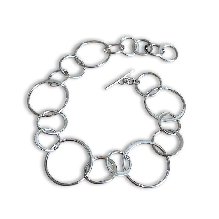 Sterling Silver Simplicity Circles Bracelet