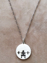 Silver Front Squat Necklace