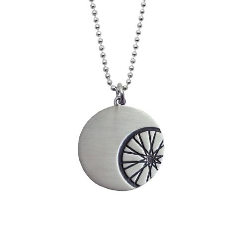Sterling Silver Spin Cycling Necklace