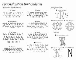 Engraving Fonts Chart
