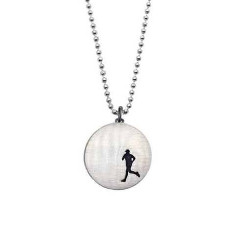 Sterling Silver Runner Necklace