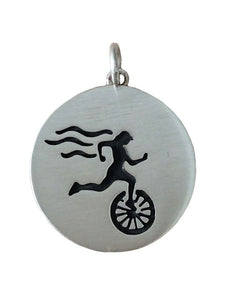 Sterling Silver Triathlete Necklace