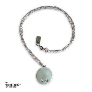 Kettlebell (Teeny) and Barbell Necklace