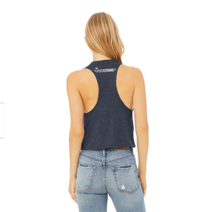Just Lift It Racerback Cropped Tank