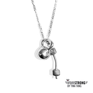 Kettlebell Barbell  Necklace