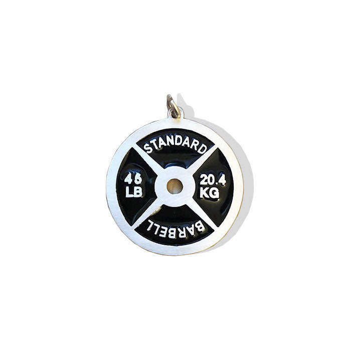 Large 45lb Weight Plate Charm - Sterling Silver