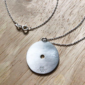 Large 45lb Weight Plate Necklace Backside