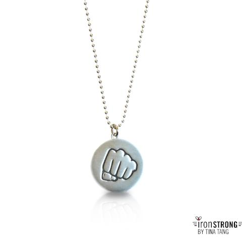 Left Fist Punch Necklace
