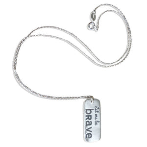 Let me win Let me be brave Special Olympics Charity Necklace
