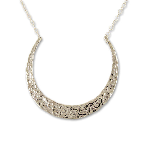 Sterling Silver Crescent Necklace