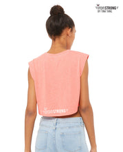 Strong AF Crop Gym Tee - Peach - Back Side