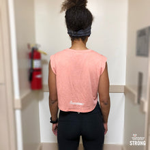 Strong AF Crop Gym Tee - Peach