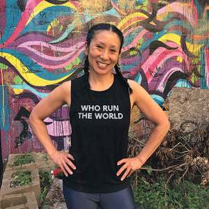 Who Run The World Muscle Tank