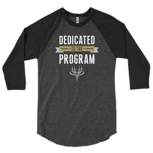 Men's Dedicated to the Program 3/4 Baseball Tee