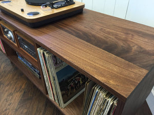 Newly crafted mid century modern furniture, black walnut.