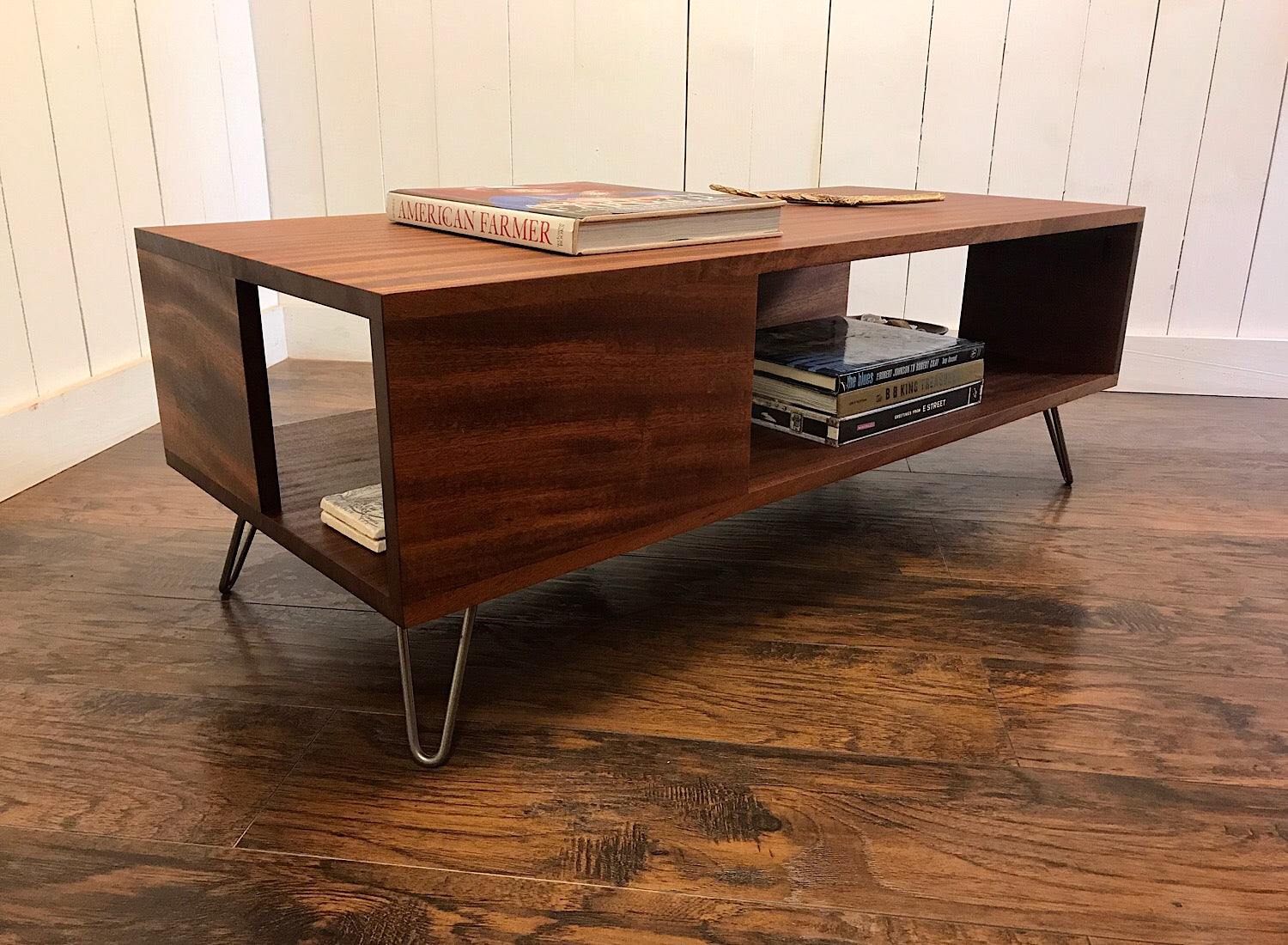 Contemporary Coffee Table.Fat Boy Solid Mahogany Coffee Table With Storage
