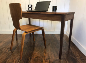 Newly crafted Shaker writing desk, solid walnut or solid white oak