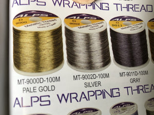 Alps Wrapping Thread Metallic Size D
