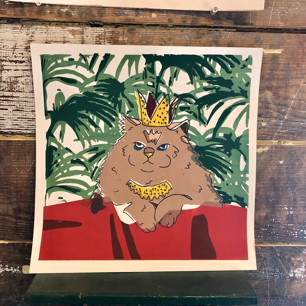 'Queen Kitty' Print