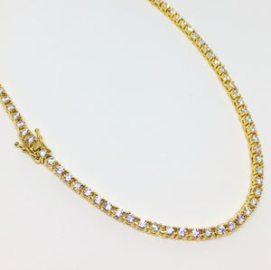 """Tennis Chain Gold Premium 3mm"""