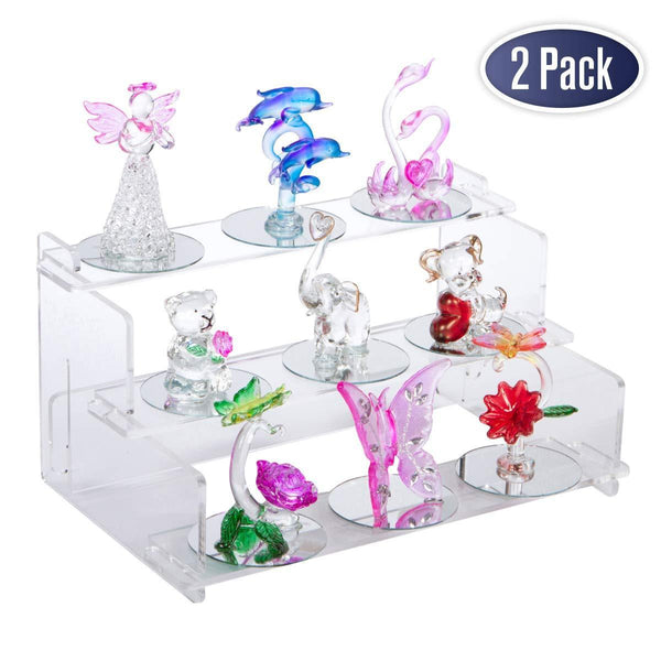 "Acrylic Display Riser Step Stand - 9"" x 6"" - 2 Pack"