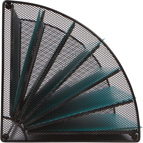 Mesh Office Organizer for Desk - Fan Shaped Desktop Organizer with 6 Compartments for Filing Paper, Bills, Letters. Desk File Organizer for Work, School, Office, Waiting Room, Classroom, and More