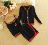 3pcs Long-sleeved Jacket with Camis and Skirt - CLEVERFITS