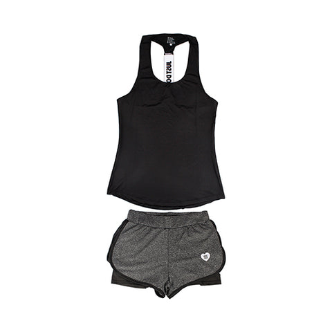 Sport Suit 2 Piece Female sleeveless sets Summer - CLEVERFITS