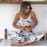 Tracksuit Fitness Suits Mesh Crop Tank O-Neck - CLEVERFITS