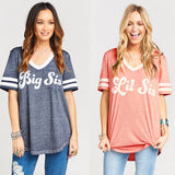 Bestie T-shirt Women V-Neck Short Sleeve Cotton - CLEVERFITS