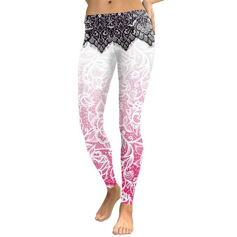 Women Leggings MandaFlower 3D Digital Printing - CLEVERFITS