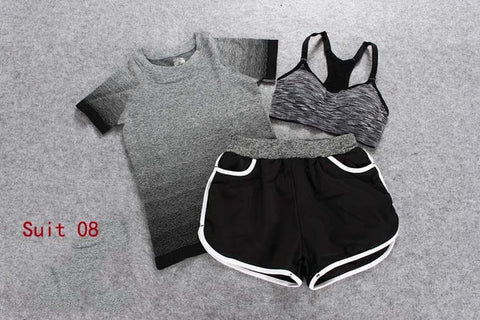 3 Piece Female Short-sleeves Summer Outdoor perspiration - CLEVERFITS