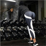 Mesh Pattern Print Leggings fitness Leggings - CLEVERFITS