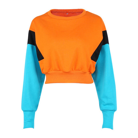 Hoodies Pullover Sweatshirt Female Cropped Top - CLEVERFITS