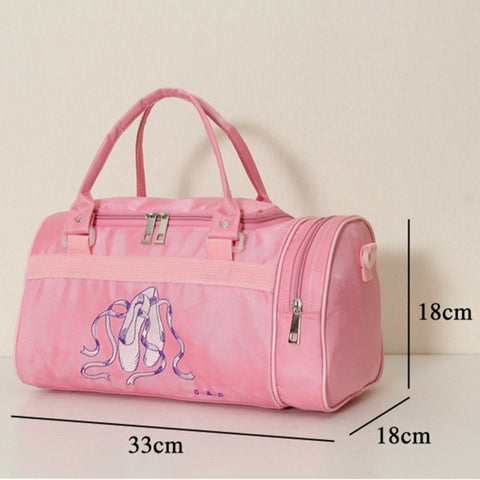Adult Women Pink Ballet Dance Bags Girls Kids - CLEVERFITS