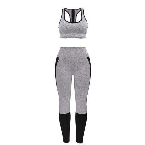 Sporting Workout 2 Piece Set Gray - CLEVERFITS