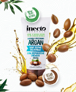 Восстанавливающая маска для волос с аргановым маслом Inecto Naturals Argan Hair Treatment