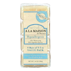 A La Maison Bar Soap - Unscented Value Pack - 3.5 Oz Each - Of 4