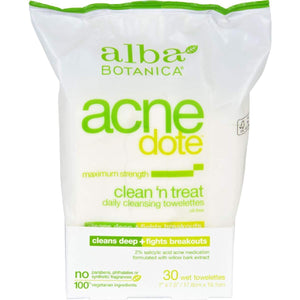 Alba Botanica Acnedote Clean Treat Towel - 30 Pack