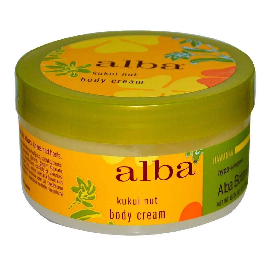 Alba Botanica Hawaiian Body Cream Kukui Nut - 6.5 Oz