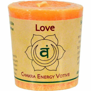 Aloha Bay Chakra Votive Canlde - Love - Case Of 12 - 2 Oz