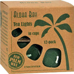 Aloha Bay Tea Light - Green - 12-.7 Oz