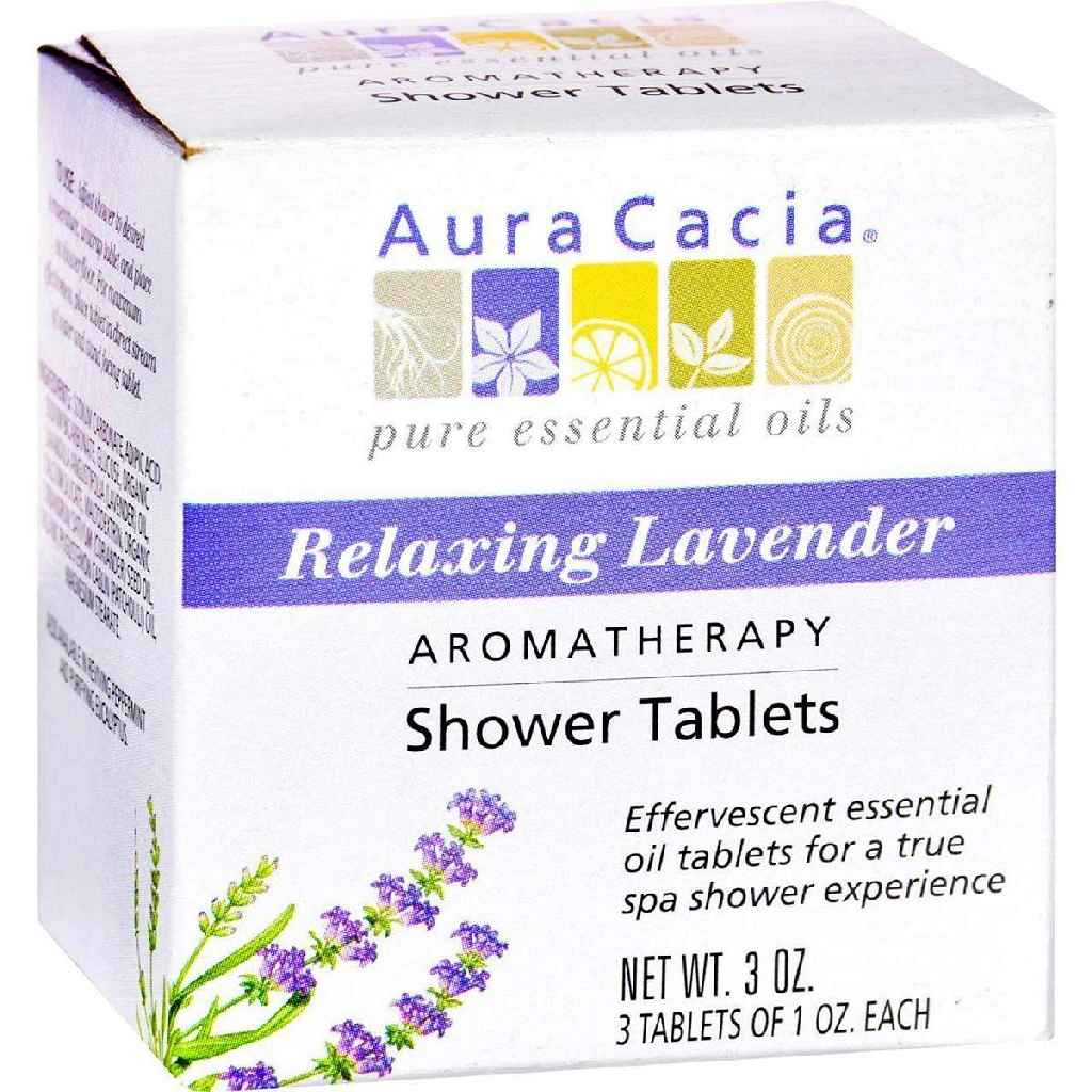 Aura Cacia Aromatherapy Shower Tablets Relaxing Lavender - 3