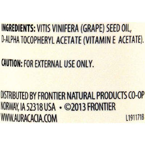 Aura Cacia Natural Skin Care Oil Grapeseed - 4 Fl Oz